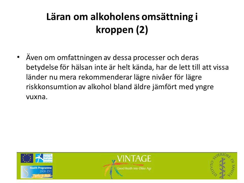 Läran om alkoholens omsättning i kroppen (2)