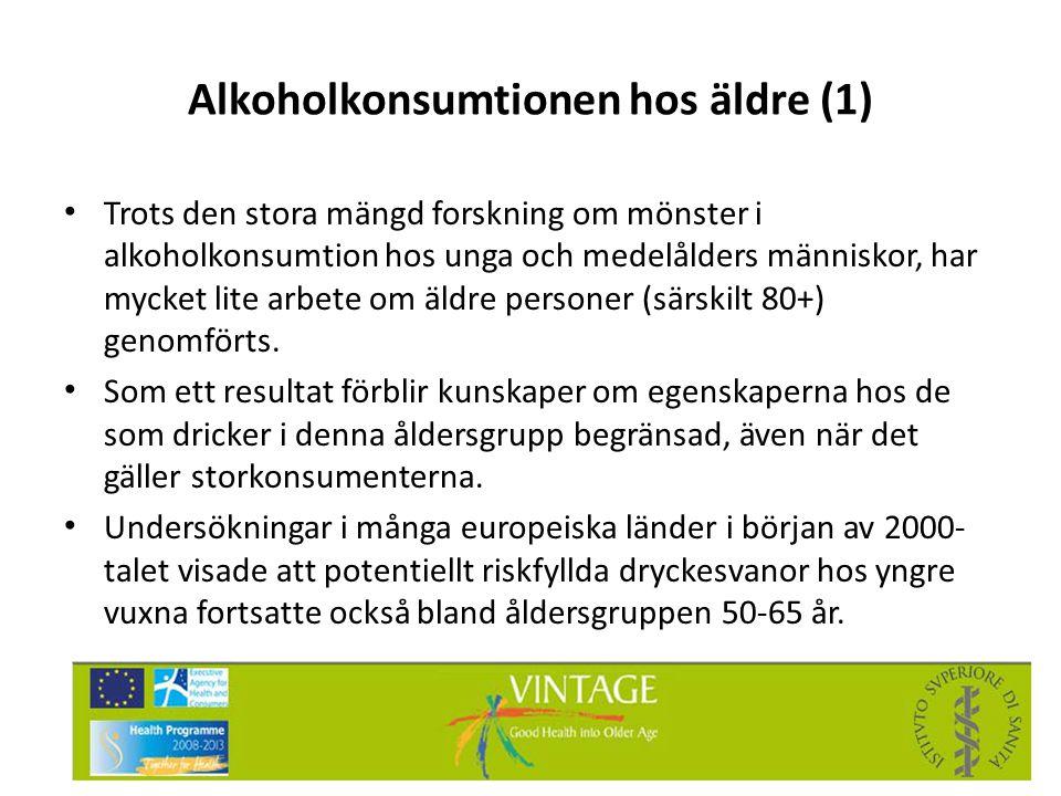 Alkoholkonsumtionen hos äldre (1)