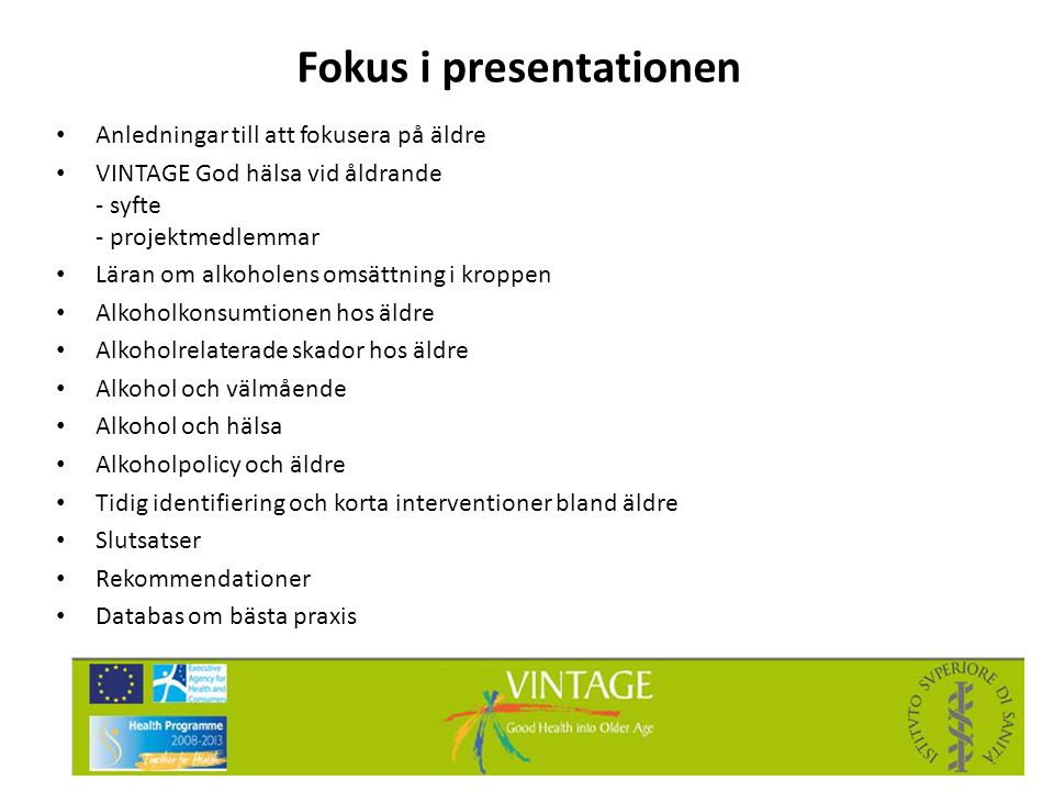 Fokus i presentationen