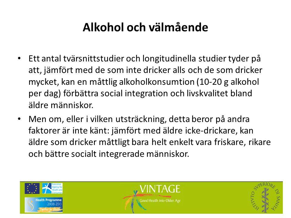 Alkohol och välmående