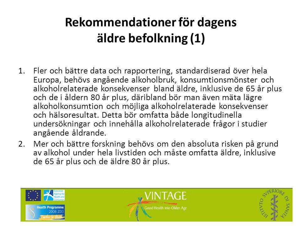 Rekommendationer för dagens äldre befolkning (1)