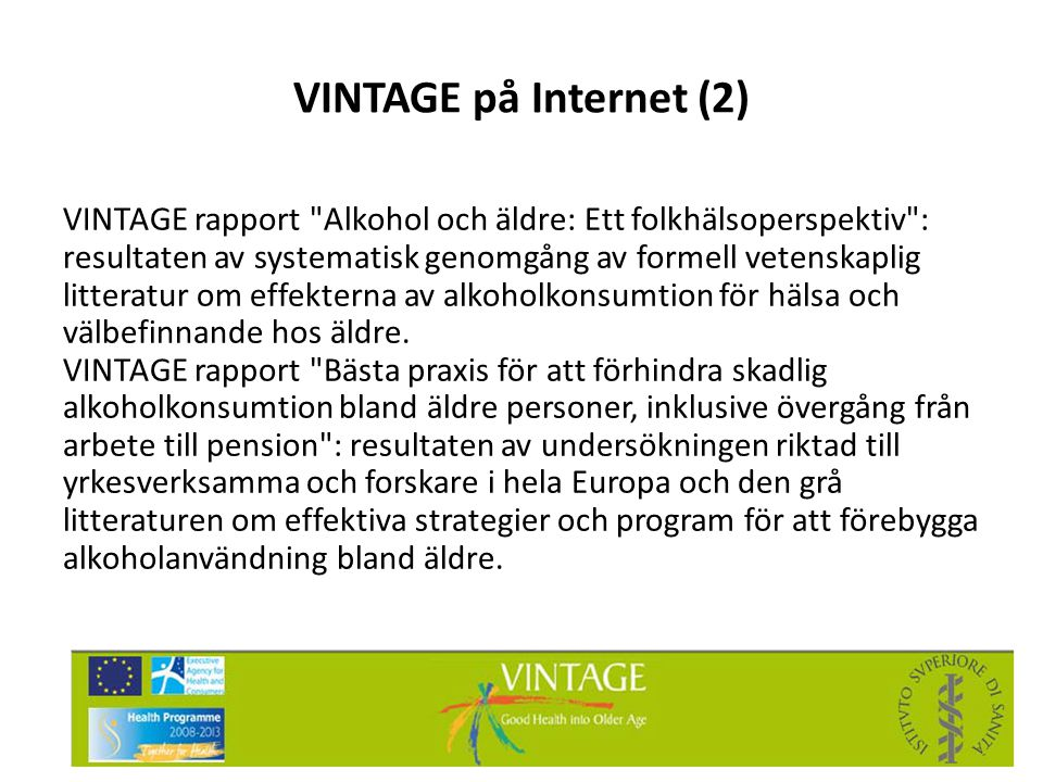 VINTAGE på Internet (2)