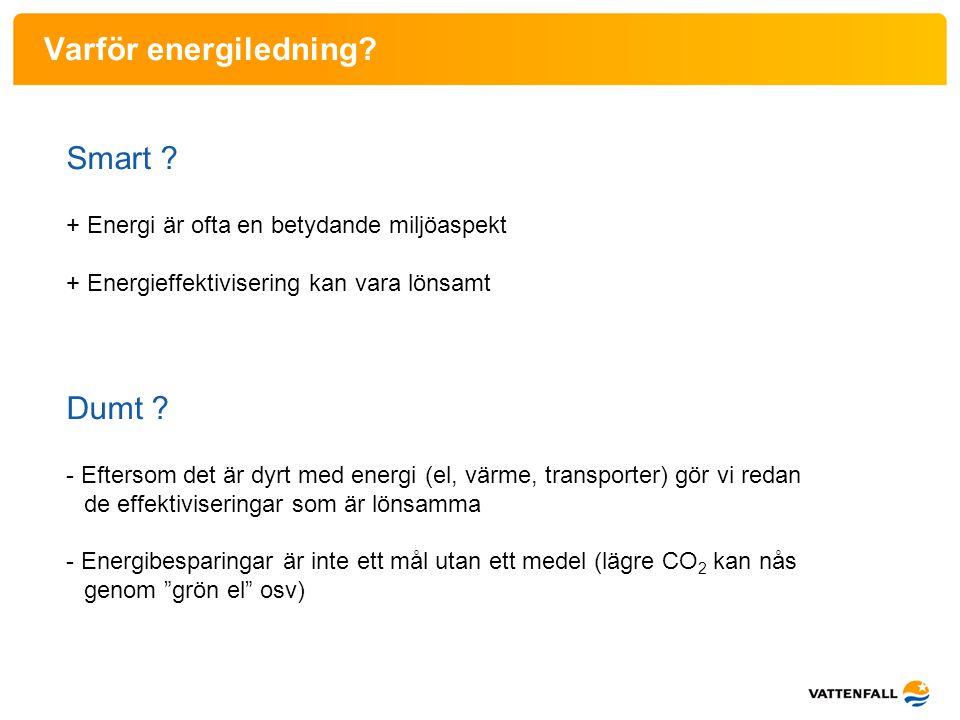 Varför energiledning Smart Dumt