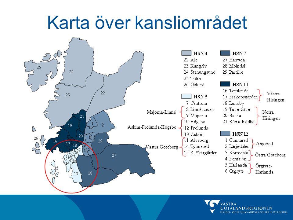 Karta över kansliområdet