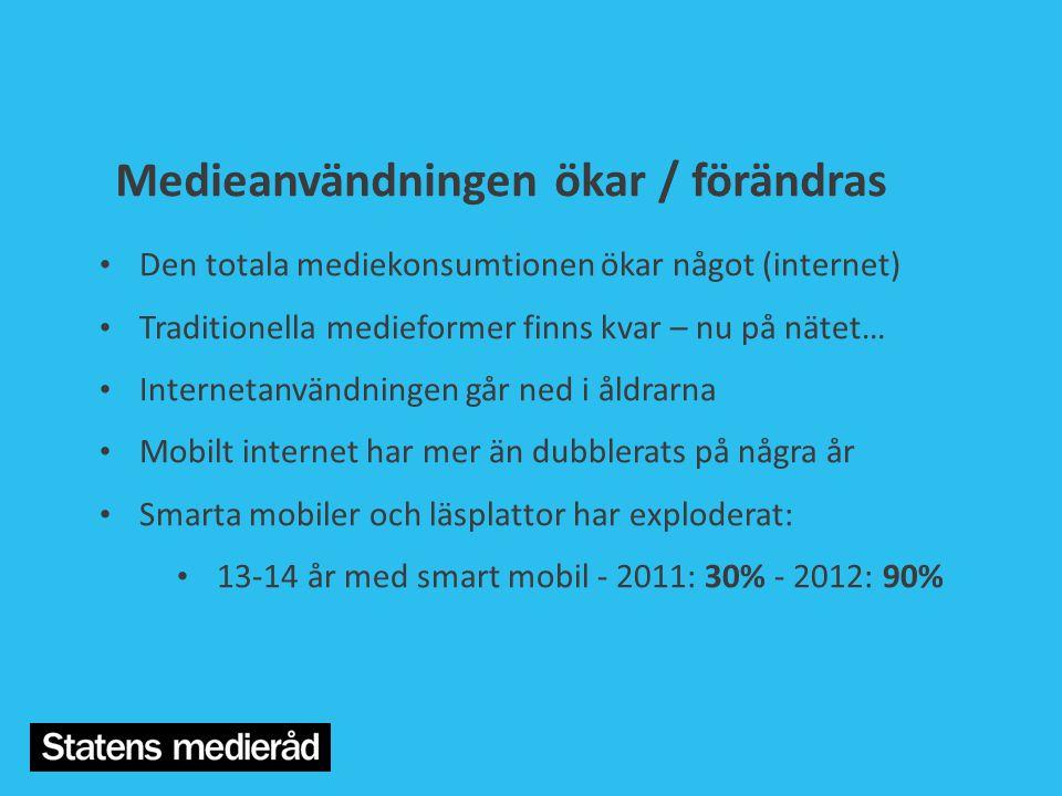 Medieanvändningen ökar / förändras