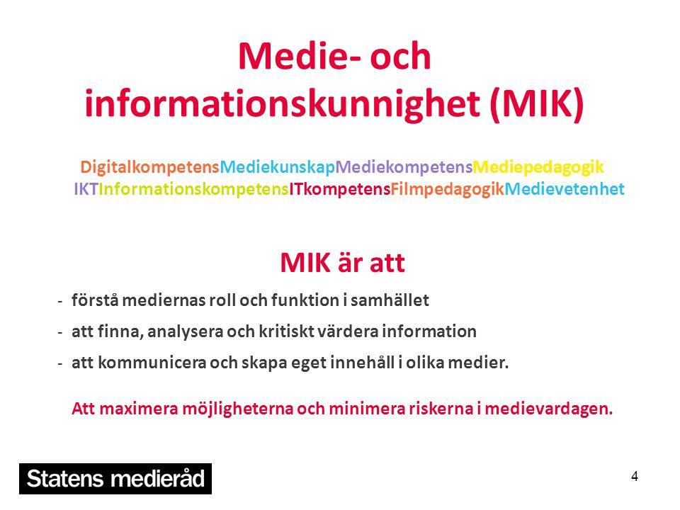 Medie- och informationskunnighet (MIK)