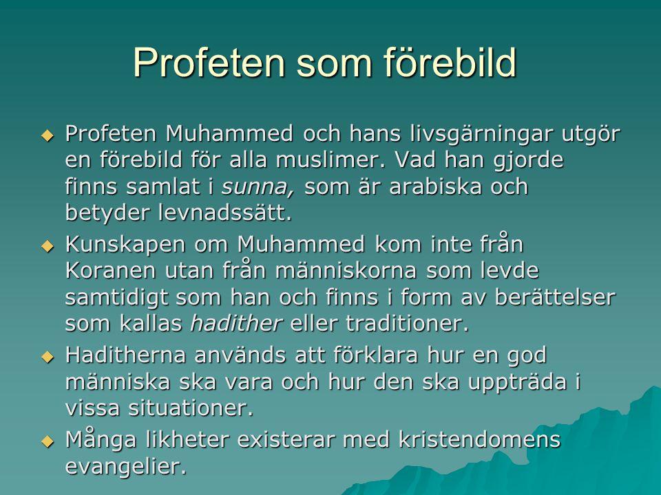 Profeten som förebild