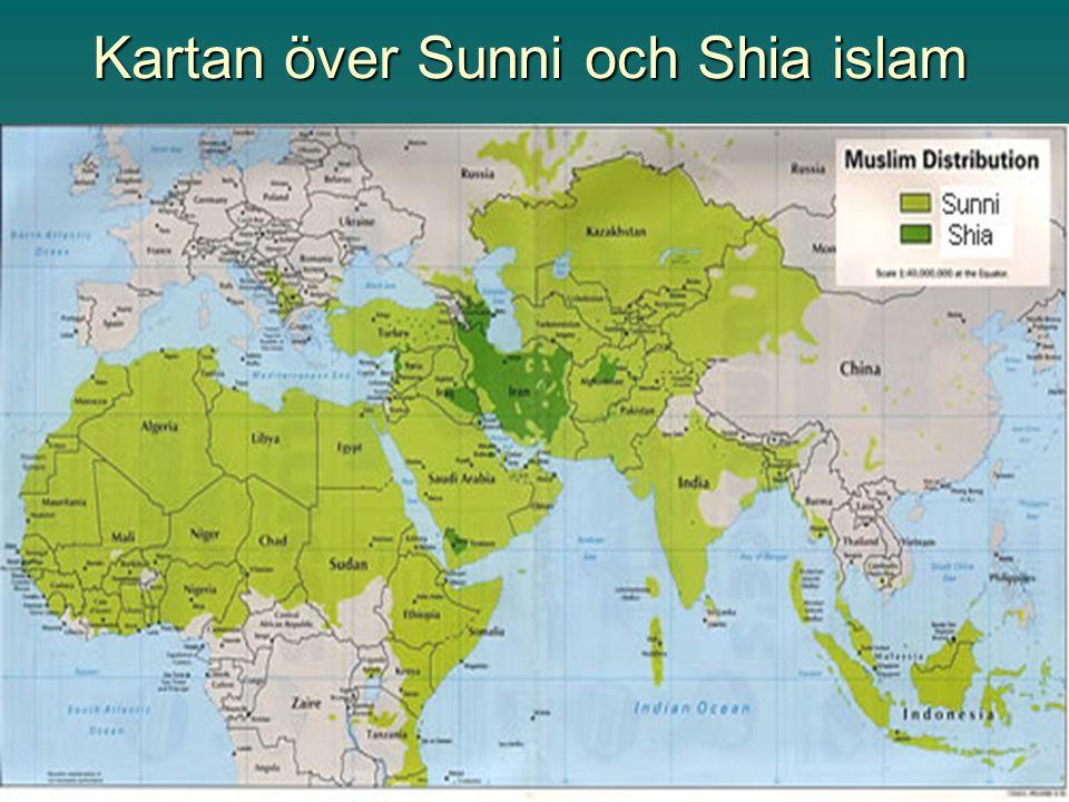 Kartan över Sunni och Shia islam