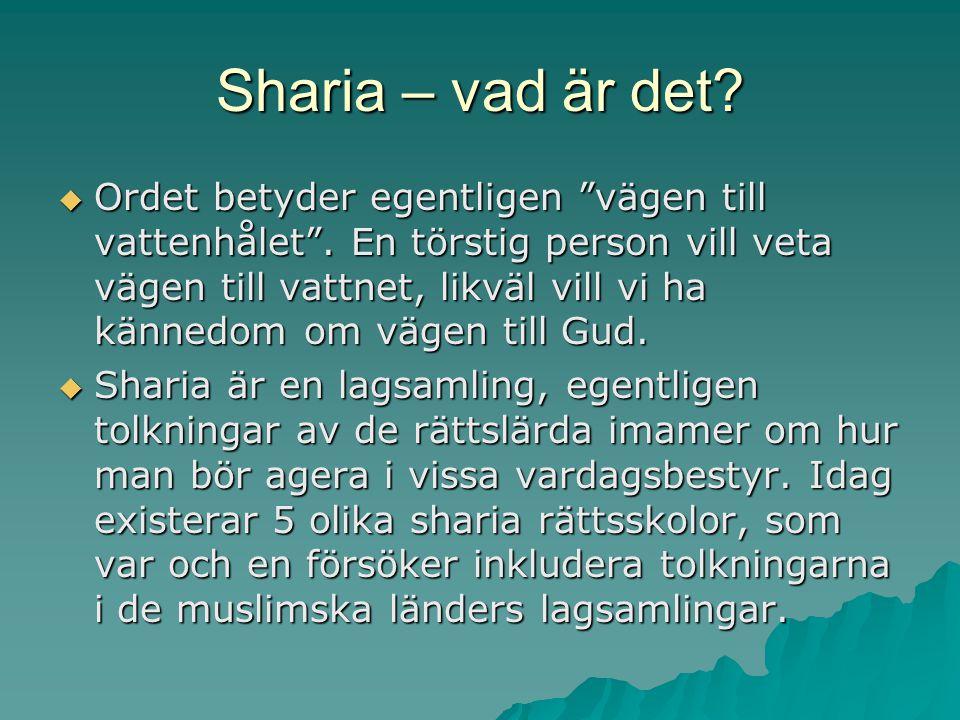 Sharia – vad är det