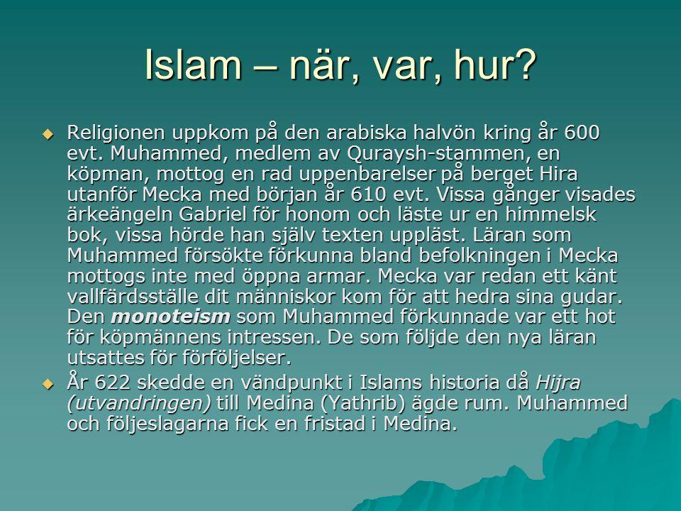 Islam – när, var, hur