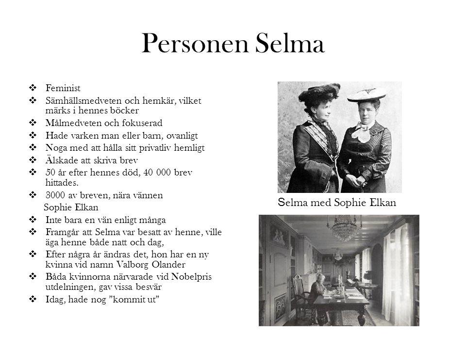 Personen Selma Selma med Sophie Elkan Feminist