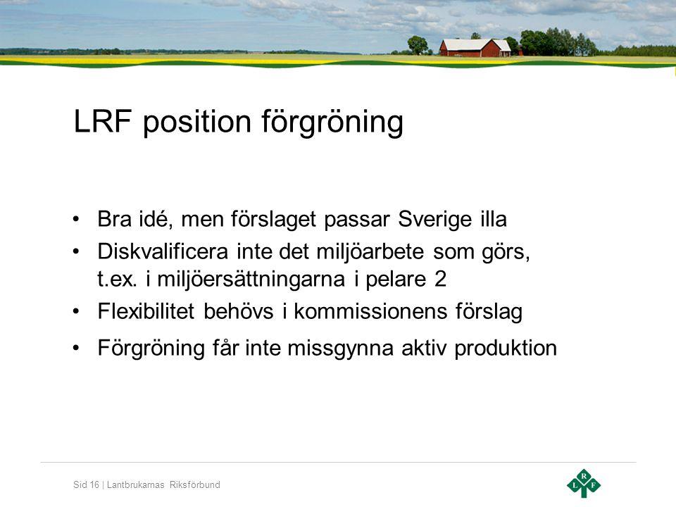 LRF position förgröning