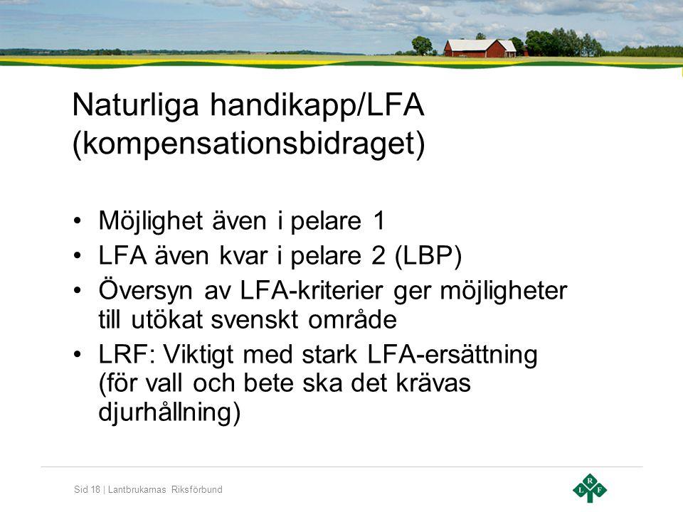 Naturliga handikapp/LFA (kompensationsbidraget)
