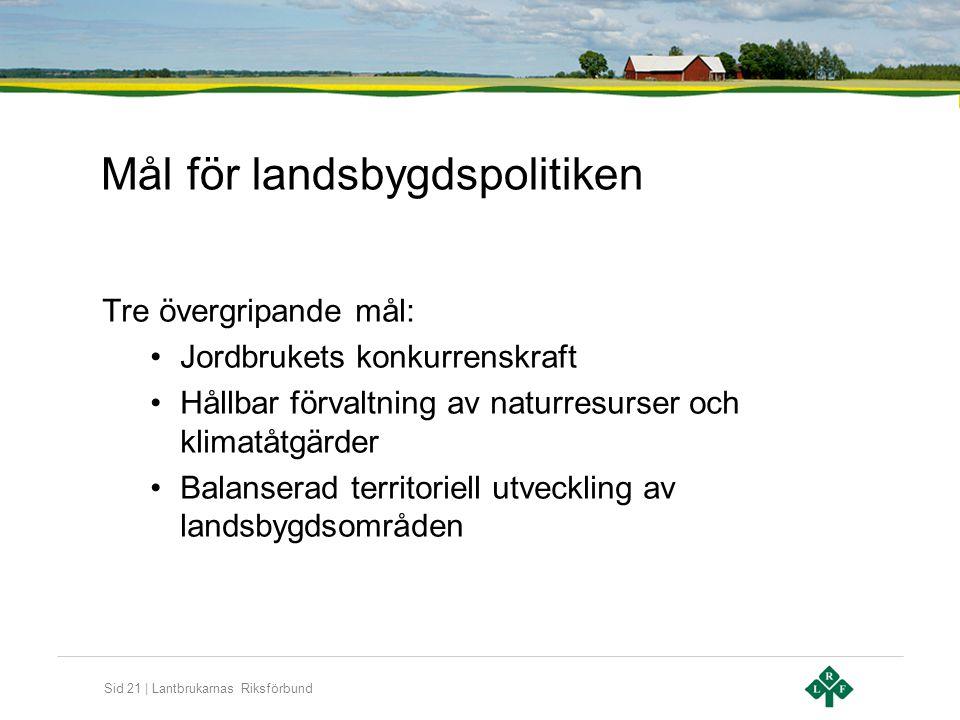 Mål för landsbygdspolitiken
