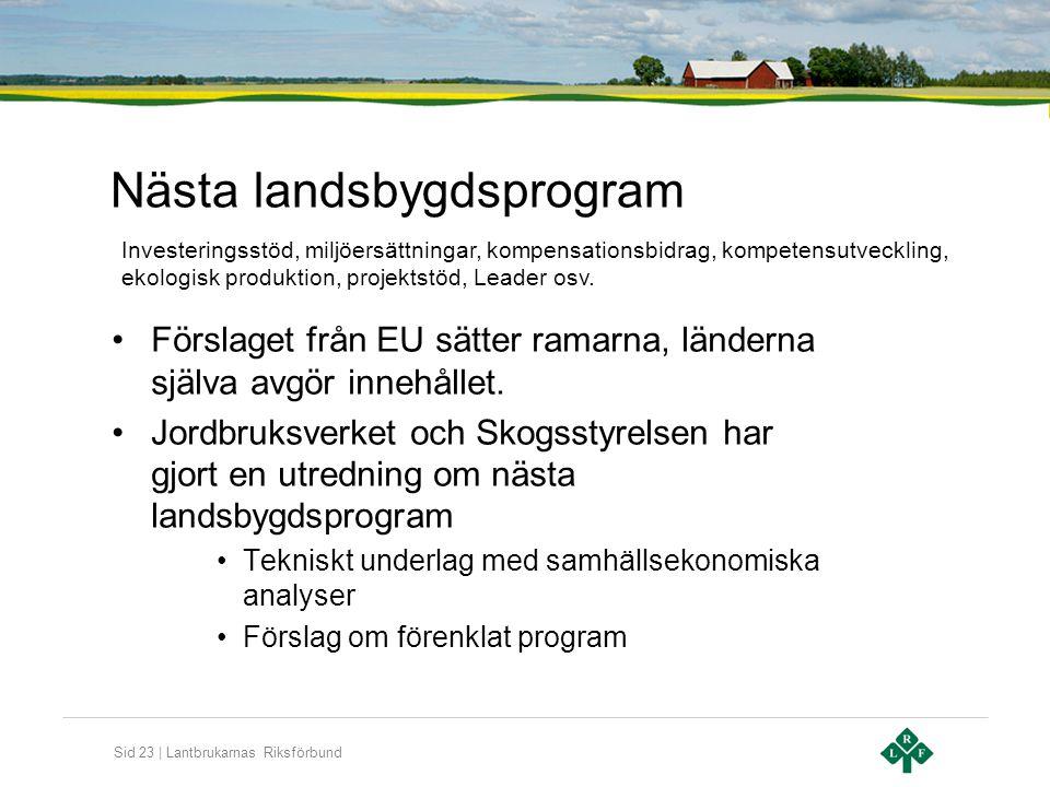 Nästa landsbygdsprogram