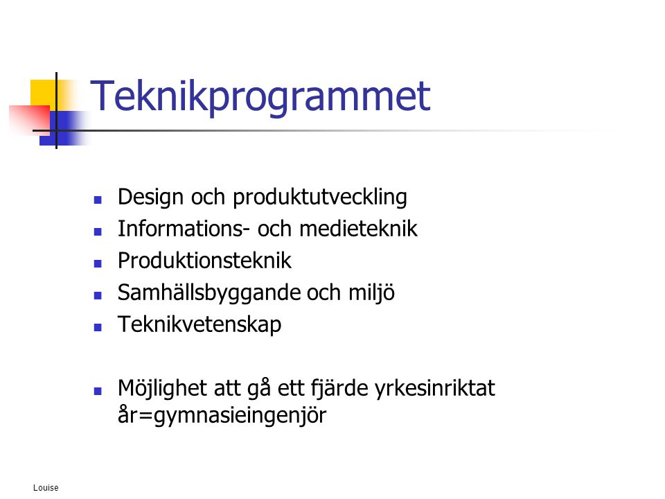 Teknikprogrammet Design och produktutveckling