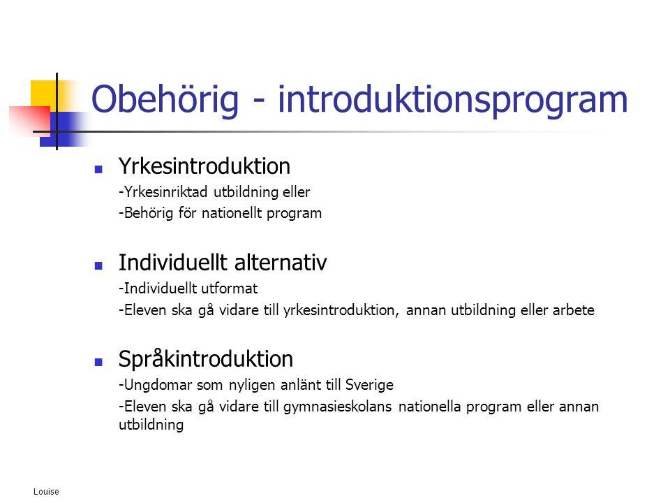 Obehörig - introduktionsprogram