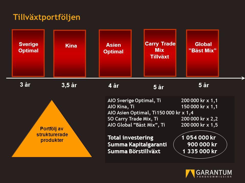 Tillväxtportföljen 3 år 3,5 år 4 år 5 år 5 år