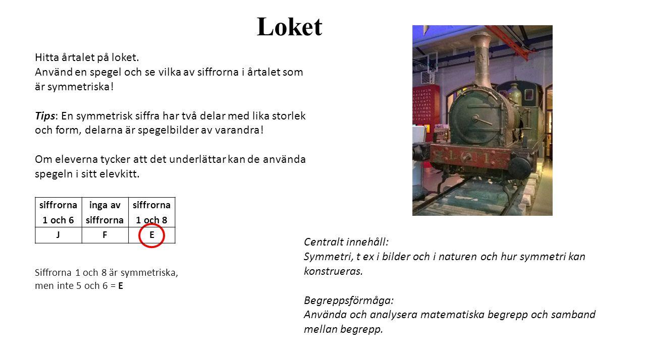 Loket Hitta årtalet på loket.