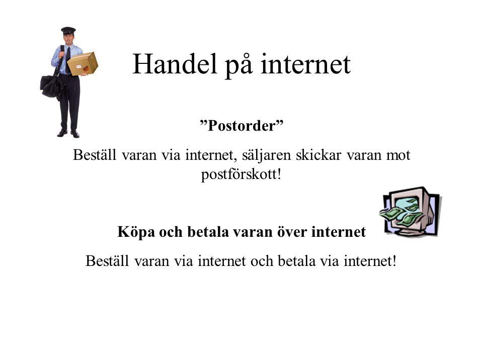 Handel på internet Postorder
