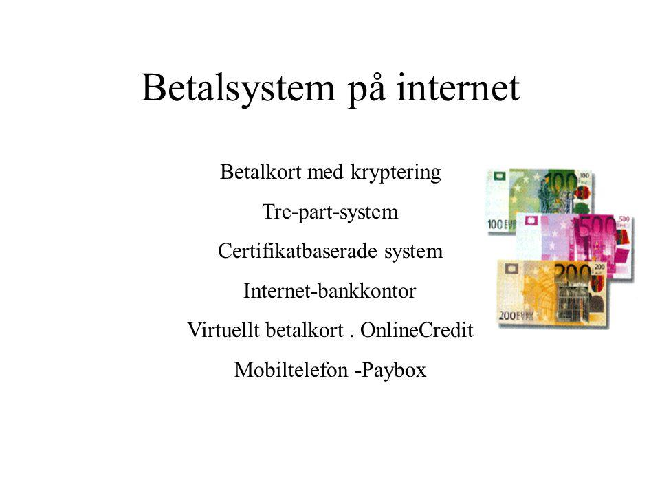 Betalsystem på internet