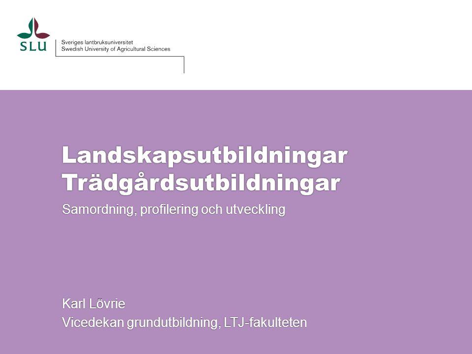 Landskapsutbildningar Trädgårdsutbildningar