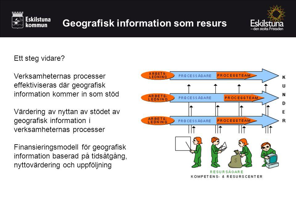 Geografisk information som resurs