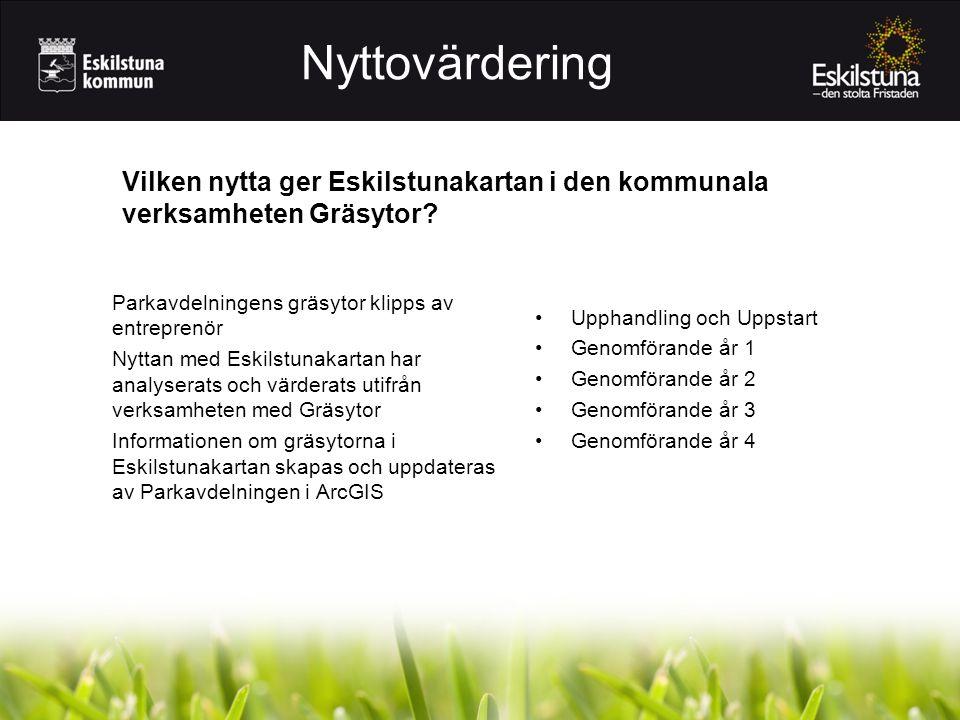 Nyttovärdering Vilken nytta ger Eskilstunakartan i den kommunala verksamheten Gräsytor