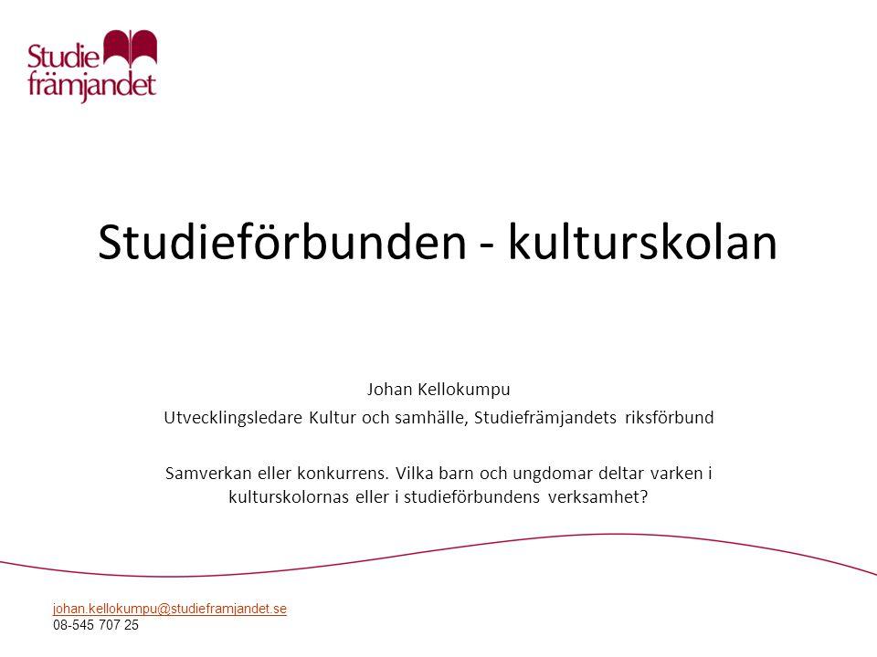 Studieförbunden - kulturskolan