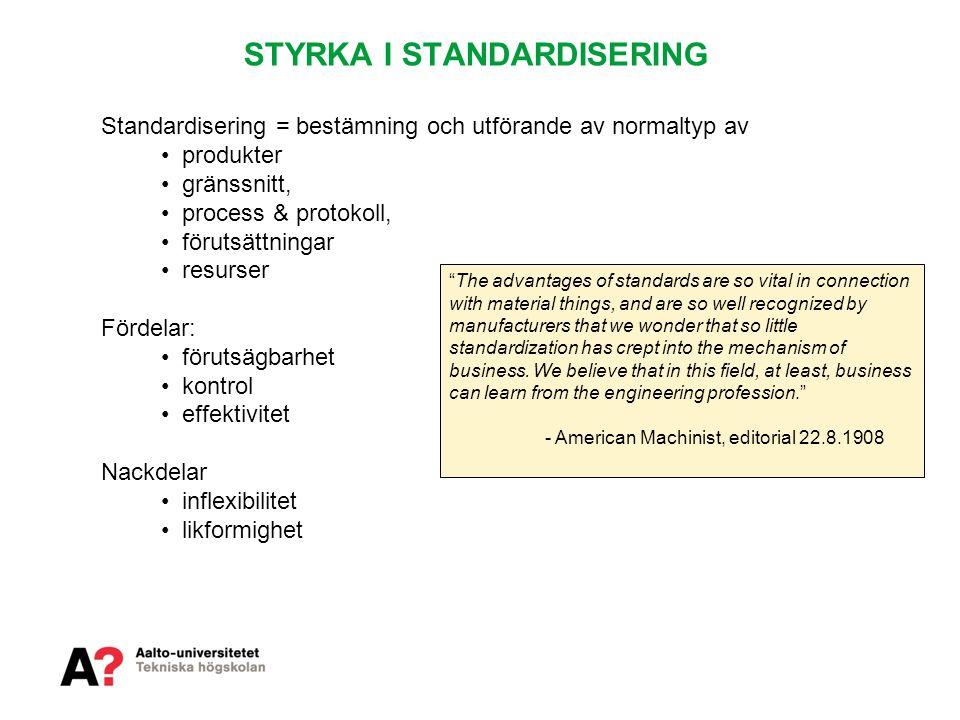 STYRKA I STANDARDISERING