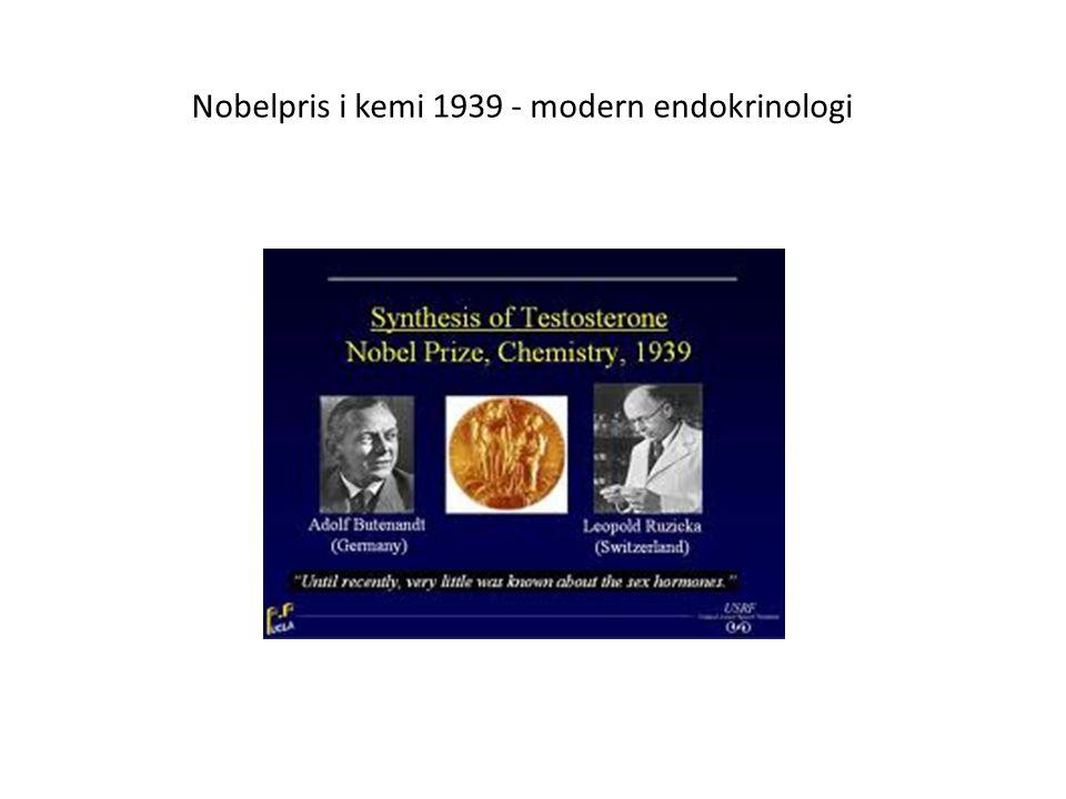 Nobelpris i kemi 1939 - modern endokrinologi