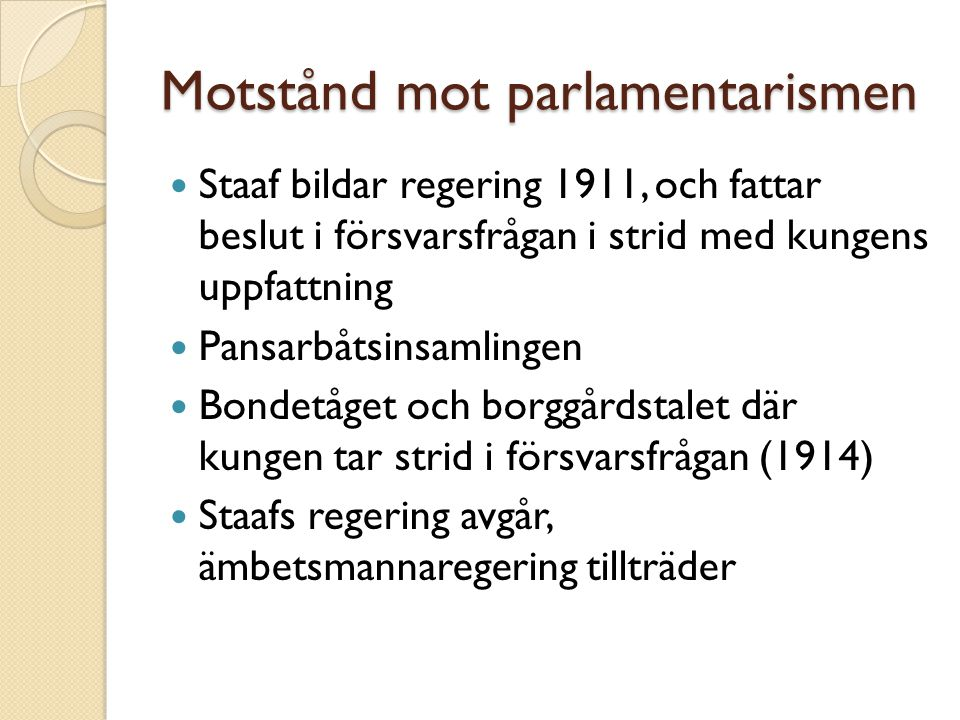 Motstånd mot parlamentarismen