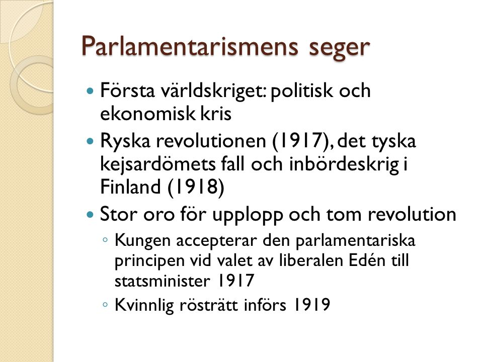 Parlamentarismens seger