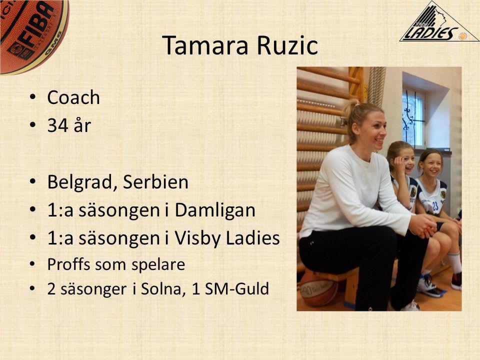 Tamara Ruzic Coach 34 år Belgrad, Serbien 1:a säsongen i Damligan
