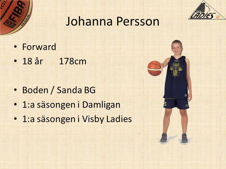 Johanna Persson Forward 18 år 178cm Boden / Sanda BG