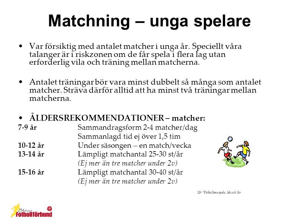 Matchning – unga spelare