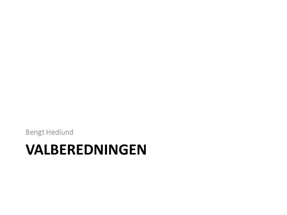 Bengt Hedlund Valberedningen