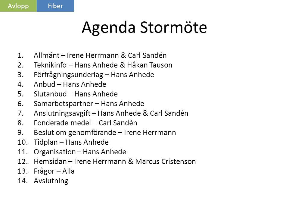Agenda Stormöte Allmänt – Irene Herrmann & Carl Sandén