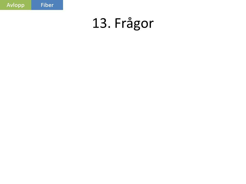 Avlopp Fiber 13. Frågor