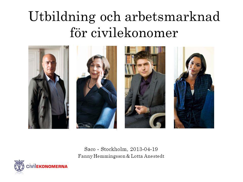 Utbildning och arbetsmarknad för civilekonomer