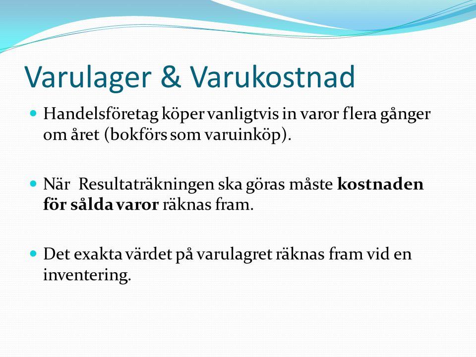 Varulager & Varukostnad