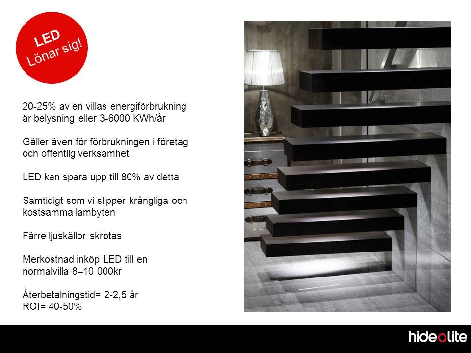 LED Lönar sig! 20-25% av en villas energiförbrukning