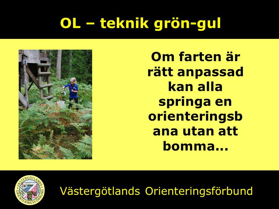 OL – teknik grön-gul Om farten är rätt anpassad kan alla springa en orienteringsbana utan att bomma...