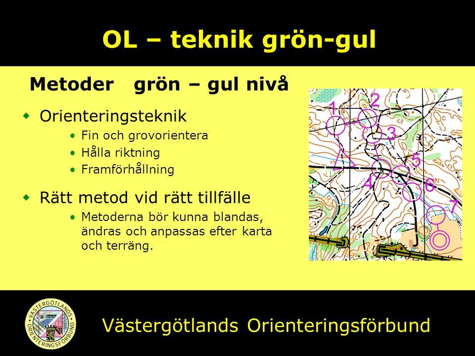 OL – teknik grön-gul Metoder grön – gul nivå