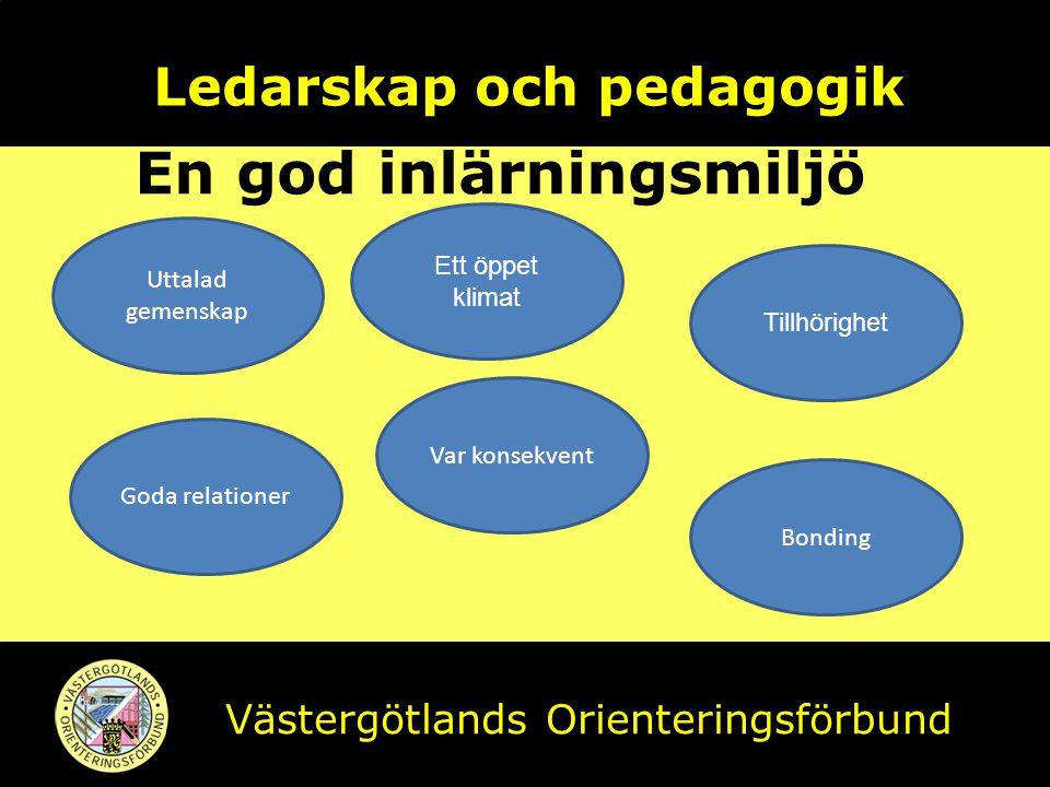 Ledarskap och pedagogik En god inlärningsmiljö