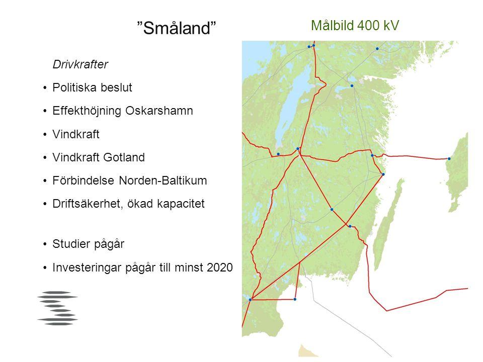 Småland Målbild 400 kV Drivkrafter Politiska beslut