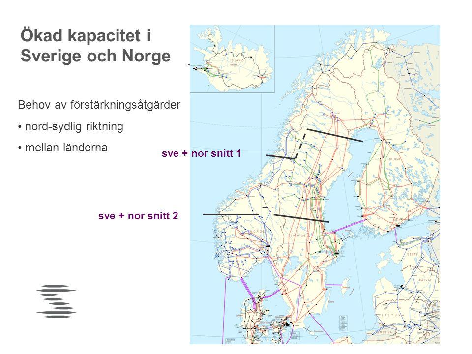 Ökad kapacitet i Sverige och Norge