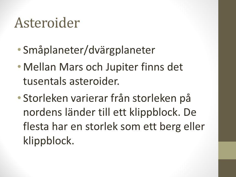 Asteroider Småplaneter/dvärgplaneter
