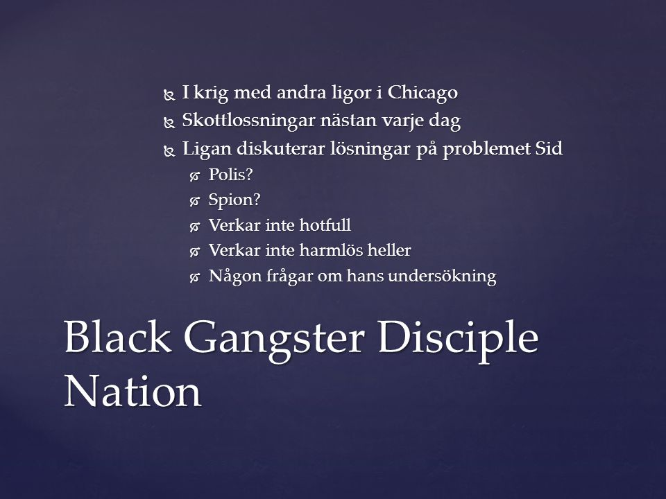 Black Gangster Disciple Nation