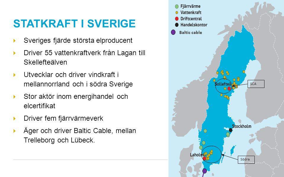 STATKRAFT I SVERIGE Sveriges fjärde största elproducent